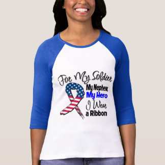 Nephew - My Soldier, My Hero Patriotic Ribbon T-Shirt