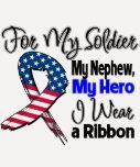 Nephew - My Soldier, My Hero Patriotic Ribbon Tees
