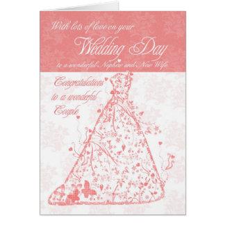Nephew & New Wife wedding day congratulations Greeting Card