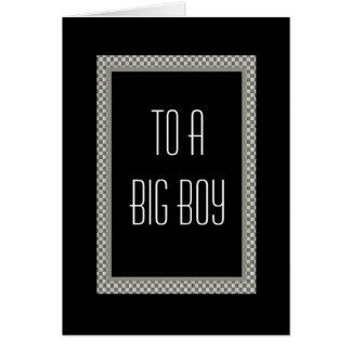 NEPHEW Pageboy Invitation Checkerboard Design Greeting Cards