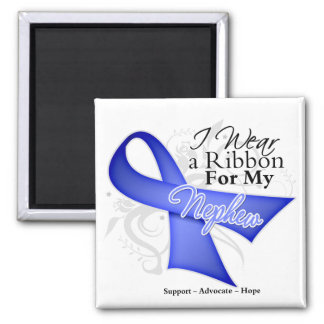 Nephew Periwinkle Ribbon - Stomach Cancer Refrigerator Magnets