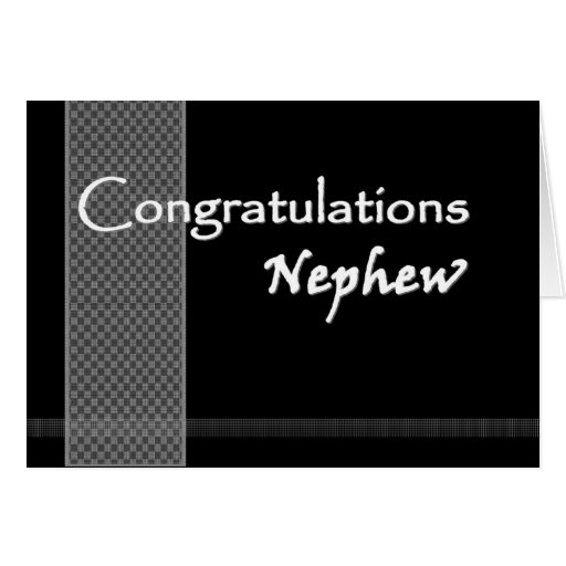 Wedding Gifts For Nephew : NEPHEW Wedding Congratulations Card Zazzle