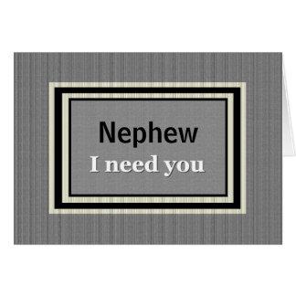 NEPHEW Wedding Invitation - Silver & Black Greeting Card