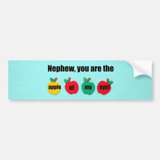 Nephew, you are the apple of my eye! bumper sticker