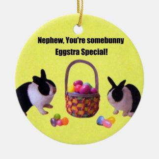 Nephew, You're somebunny eggstra special! Ceramic Ornament