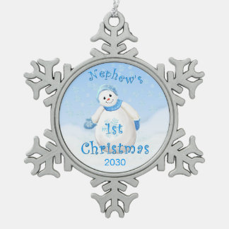 Nephew's 1st Christmas Keepsake Ornaments