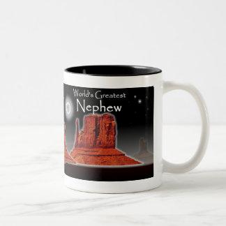 Nephew's Loving Hands Black Mug