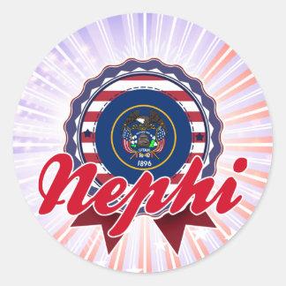 Nephi UT Round Sticker