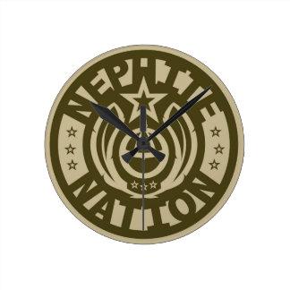 Nephite Nation™ Round Clock