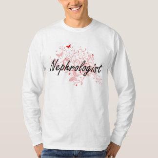Nephrologist Artistic Job Design with Butterflies T Shirt
