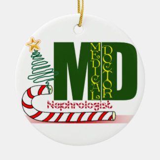 Nephrologist CHRISTMAS ORNAMET MD DOCTOR PHYSICIAN Christmas Tree Ornaments