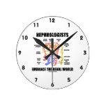 Nephrologists Embrace The Renal World (Nephron) Round Wall Clock