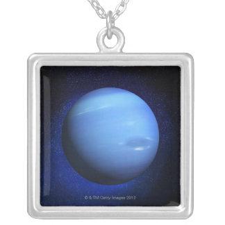 Neptune 3 square pendant necklace