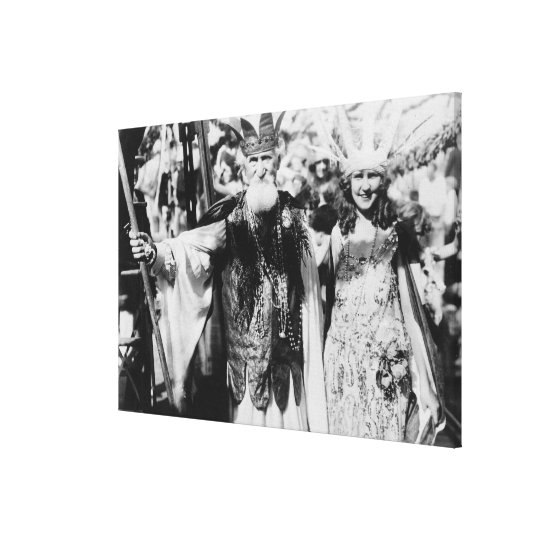 Neptune and Miss America at Carnival Photograph Canvas Print