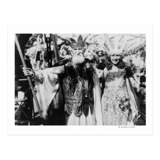 Neptune and Miss America at Carnival Photograph Postcard