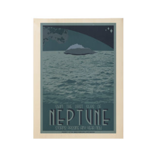 Neptune Art Deco Space Travel Poster