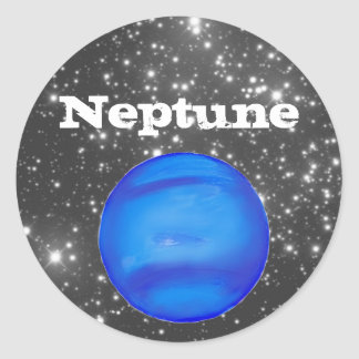 Neptune Astronomy Space Blue Classic Round Sticker