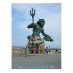 Neptune at Virginia Beach Postcard