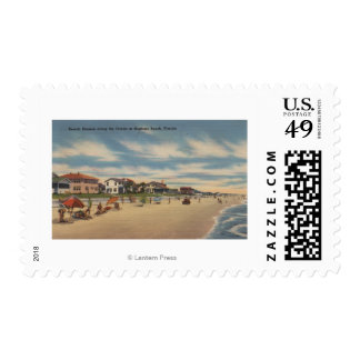 Neptune Beach, FL - View of Ocean Front Homes Postage