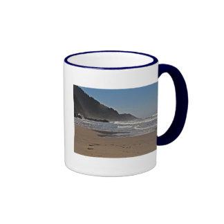 Neptune Beach, Oregon Coast Ringer Mug