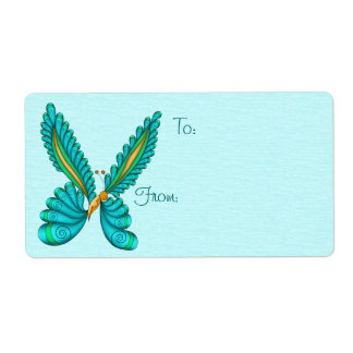 Neptune Butterfly Gift Tag Labels