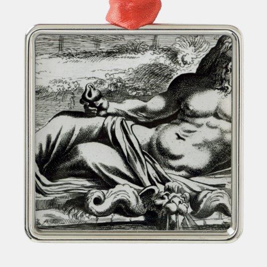 Neptune, c.1653 metal ornament