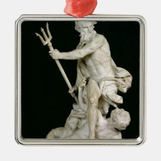 Neptune Calming the Waves, 1757 Metal Ornament