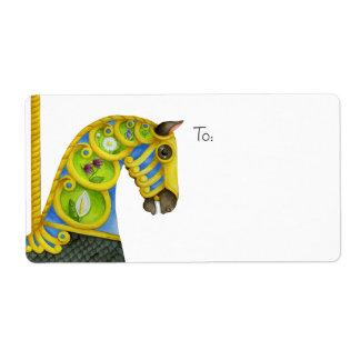 Neptune Carousel Horse Avery Label