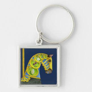 Neptune Carousel Horse Keychain