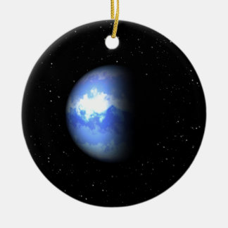 Neptune Double-Sided Ceramic Round Christmas Ornament