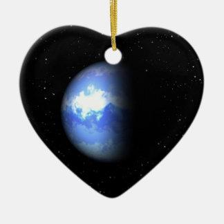 Neptune Double-Sided Heart Ceramic Christmas Ornament