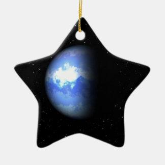 Neptune Double-Sided Star Ceramic Christmas Ornament