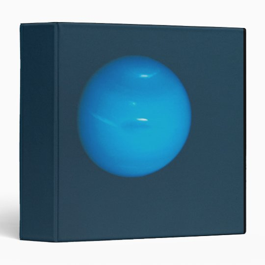 Neptune, dynamic blue-green atmosphere 3 ring binder