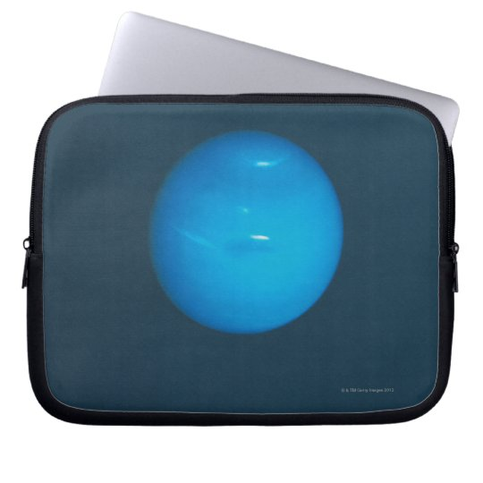 Neptune, dynamic blue-green atmosphere laptop sleeve