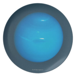 Neptune, dynamic blue-green atmosphere melamine plate