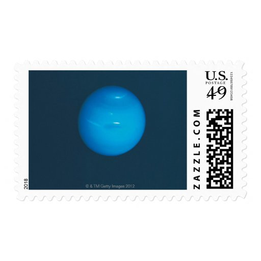 Neptune, dynamic blue-green atmosphere postage stamps
