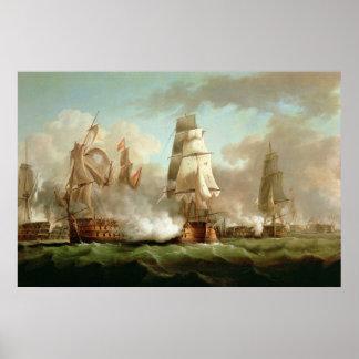 'Neptune' engaged, Trafalgar, 1805 Posters