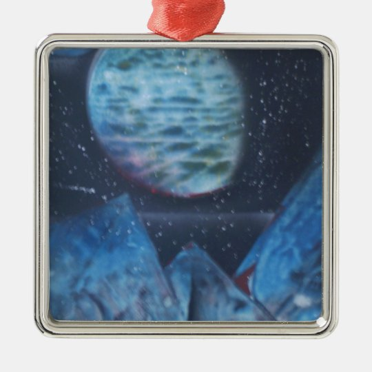 Neptune Exploration Metal Ornament