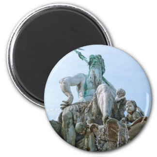 Neptune Fountain in Berlin 2 Inch Round Magnet