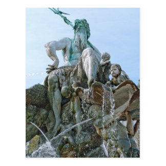 Neptune Fountain in Berlin Postcard