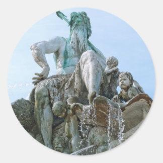 Neptune Fountain in Berlin Sticker