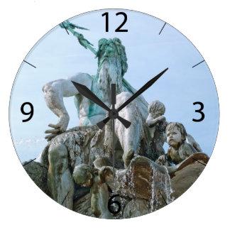 Neptune Fountain in Berlin Wall Clocks