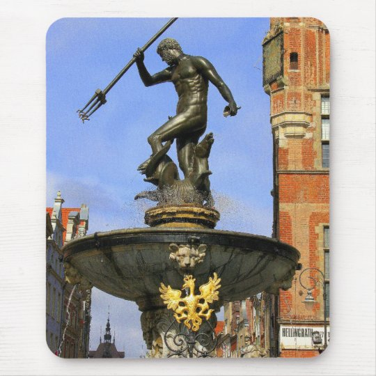 Neptune Fountain in Gdansk Mouse Pad