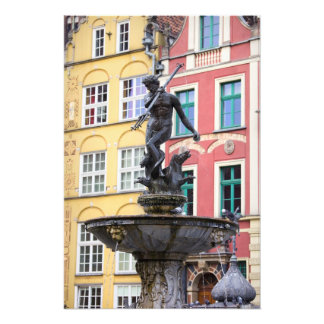 Neptune Fountain in Gdansk Art Photo