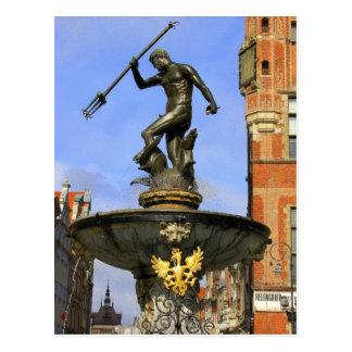 Neptune Fountain in Gdansk Postcards