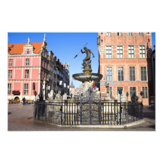 Neptune Fountain in the City of Gdansk Photograph