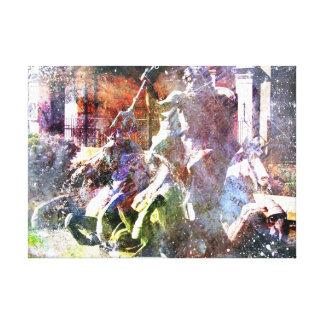 Neptune Fountain Kansas City Canvas Print