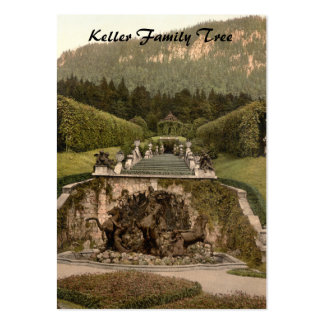Neptune Fountain, Linderhof Castle, Germany Large Business Card