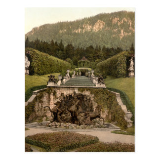 Neptune Fountain, Linderhof Castle, Germany Postcard