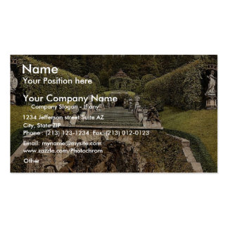 Neptune Fountain, Linderhof Castle, Upper Bavaria, Business Card Template